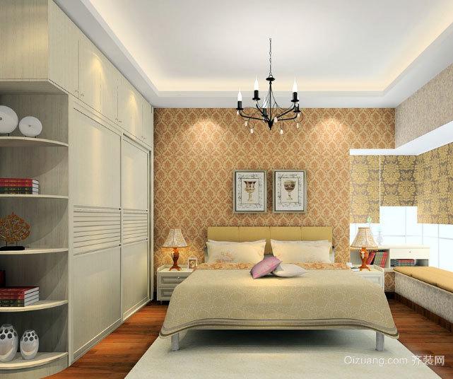两居室欧式简约卧室装修效果图