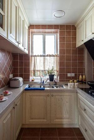 三室一厅妈妈们超级喜爱的简欧风格厨房设计图