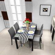 前卫时尚的餐厅餐桌