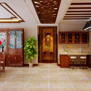 中式风格的吧台柜