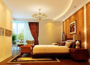 时尚都市单身公寓卧室石膏线装修效果图大全