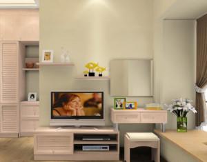混搭卧室飘窗与梳妆台组合装修设计效果图