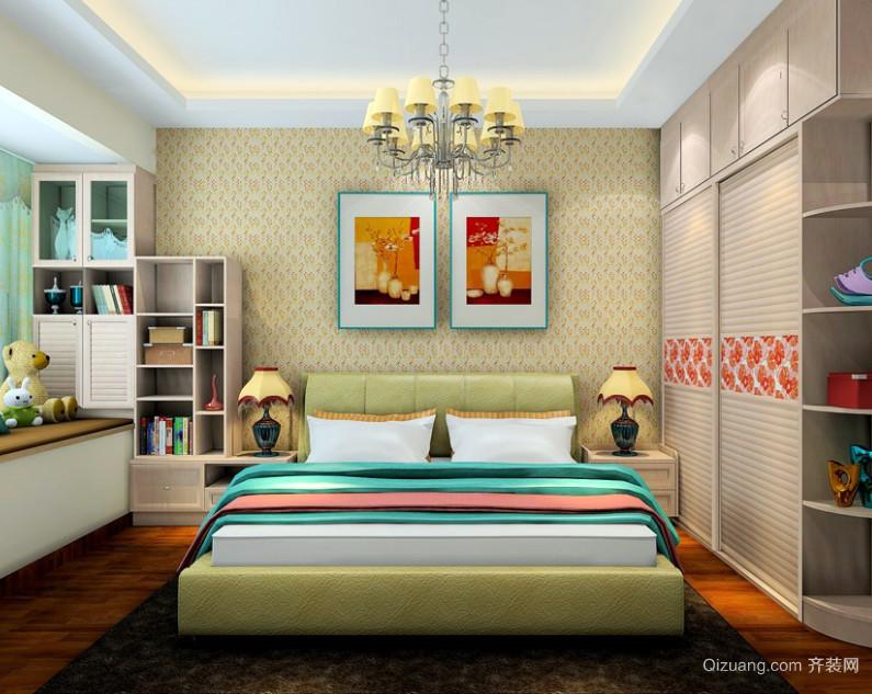 一室一厅北欧式单身公寓卧室装修效果图