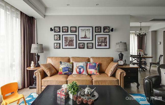 古典的美式风格客厅装修照片墙设计图片欣赏
