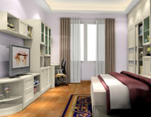 卧室米白色电视柜欣赏
