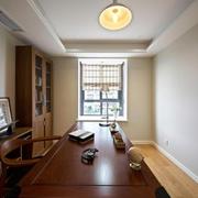 中式风格书房大书桌