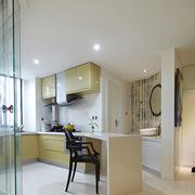 厨房白色简约小吧台