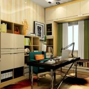 米白色的书房书柜