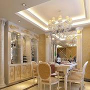奢华的餐厅酒柜