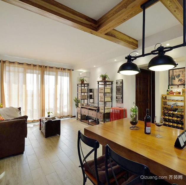 120平米北欧风格客厅卧室设计一体化装修效果图