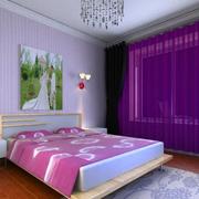 浪漫的紫色房间