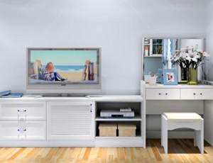 卧室白色组合电视柜