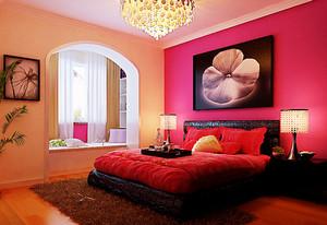 红色温馨婚房卧室