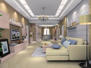时尚混搭95平米单身公寓客餐厅装修效果图