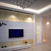 电视墙现代化的装饰