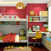 儿童房靓丽双层床