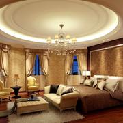 120平米家居卧室圆形吊顶