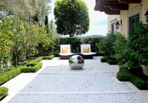 超现代地中海风格入户花园装修效果图