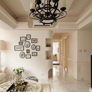 客厅造型时尚的照片墙