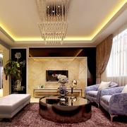 轻奢华的房间客厅