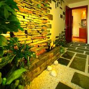 入户花园背景墙展示