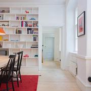 开放式白色书房