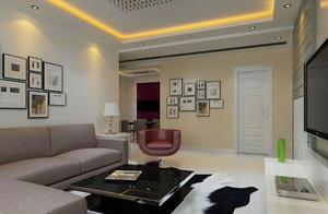 现代化的中等户型客厅