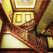 美式风格的楼梯