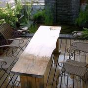 露台餐桌椅摆放图