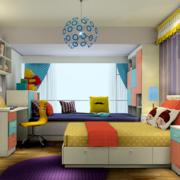 儿童房鲜艳壁纸装饰