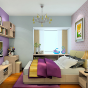 公寓卧室紫色浪漫
