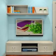 卧室米白色小型电视柜