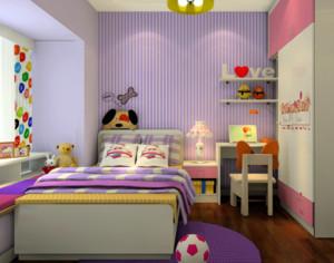 紫色梦幻的儿童房