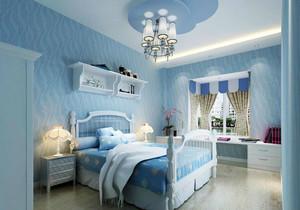 蓝色海洋式的卧室