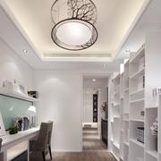 白色时尚的家居书房