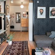 小户型客厅照片墙图片