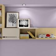 卧室置物柜紫色背景墙