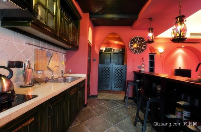 温暖色调的东南亚风格吧台设计装修图片大全