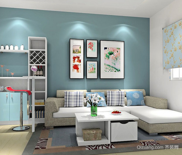 2015具有现代感的家庭客厅吧台装修效果图