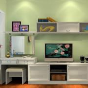 卧室电视柜绿色背景墙