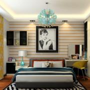 家居卧室条纹壁纸