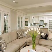 大户型的客厅转角沙发