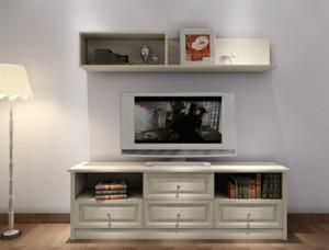 24平米实用卧室组合电视柜装修效果图