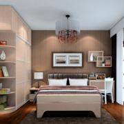 公寓咖啡色小卧室