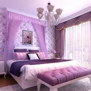 紫色浪漫的婚房