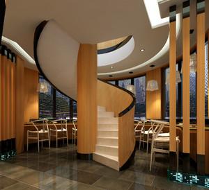 三室二厅铁艺旋转楼梯装修效果图