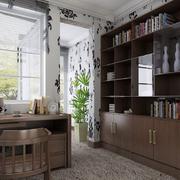 中式咖啡色书房