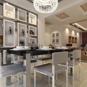 餐厅精致时尚的酒柜