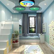儿童房浅蓝色壁纸欣赏