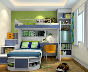 三室两厅两卫男生卡通小卧室装修效果图